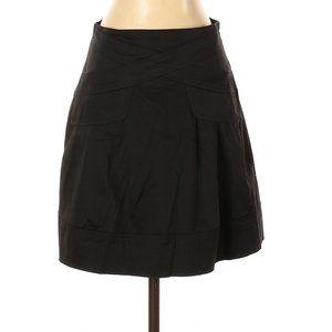 Nanette Lepore Black Casual A-Line Cotton Skirt